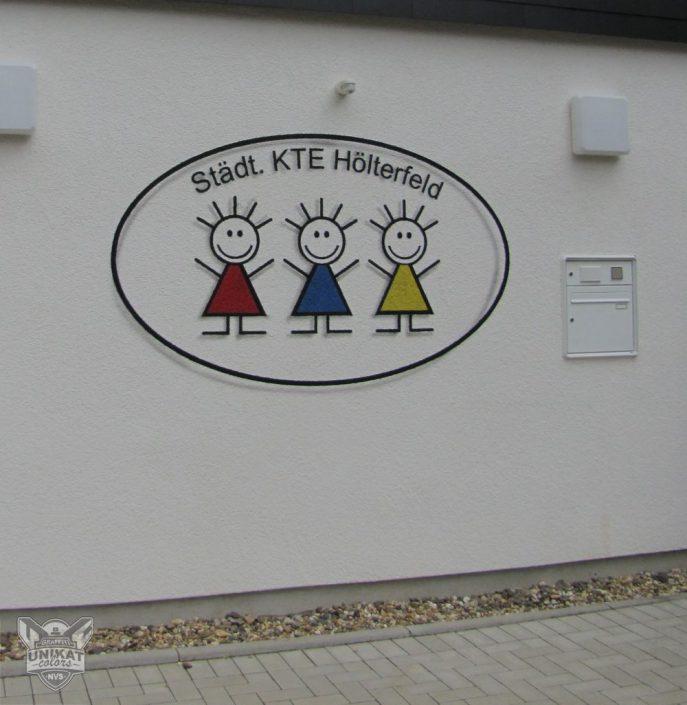 Gestaltung Wand am Kindergarten