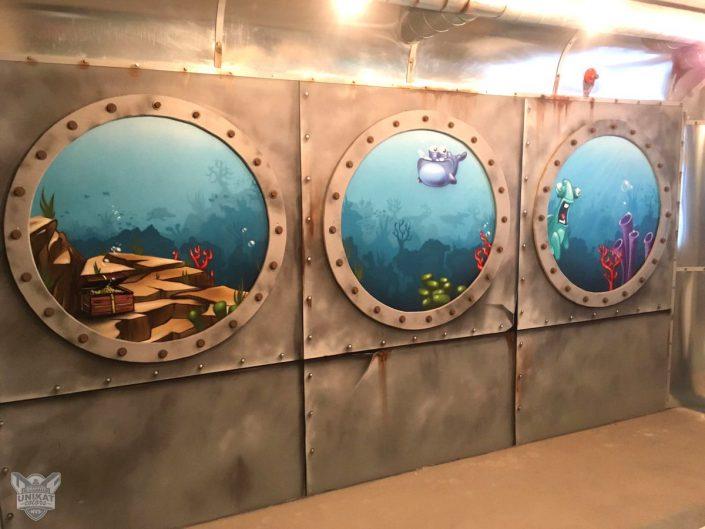 Bullaugen Unterwasser